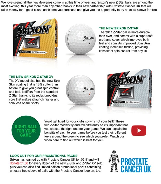 Srixon Z-Star and Prostate Cancer