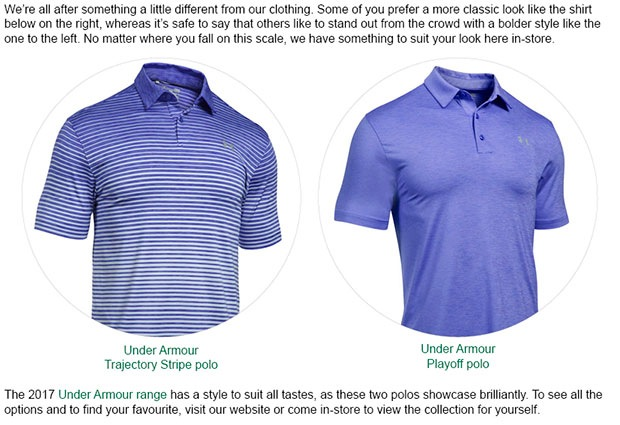 Under Armour Clothing Article