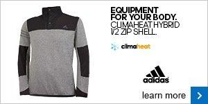 adidas climaheat hybrid 1/2 zip shell